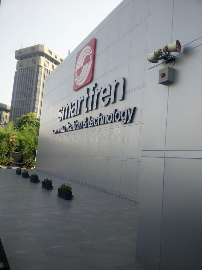 Jakarta/Indonesien juli 15 2019 smartfren huvudkontoret, sabang Jakarta arkivbilder