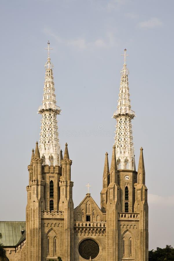 Jakarta-Kathedrale stockbild