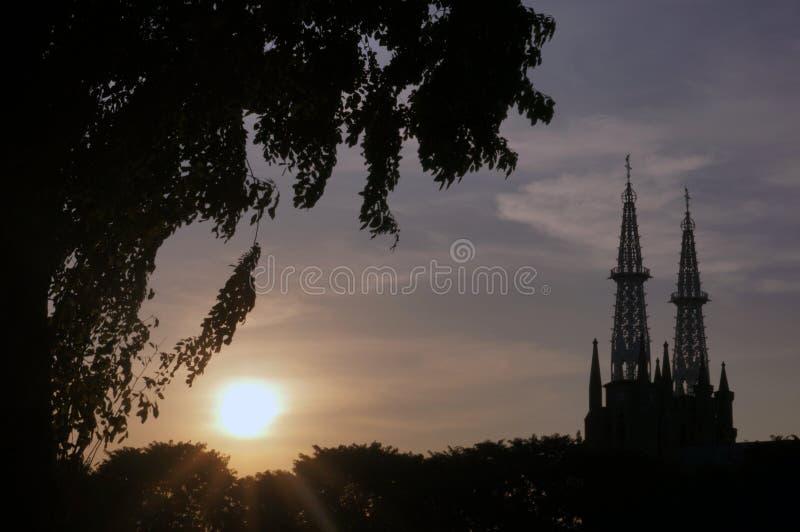 Jakarta-Kathedrale, Indonesien stockbilder