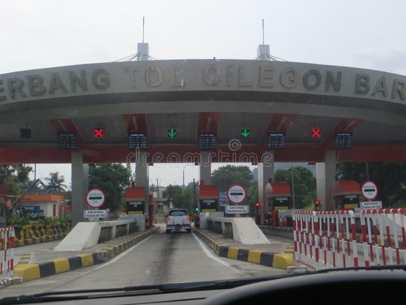 Jakarta-Merak avgiftväg arkivbild