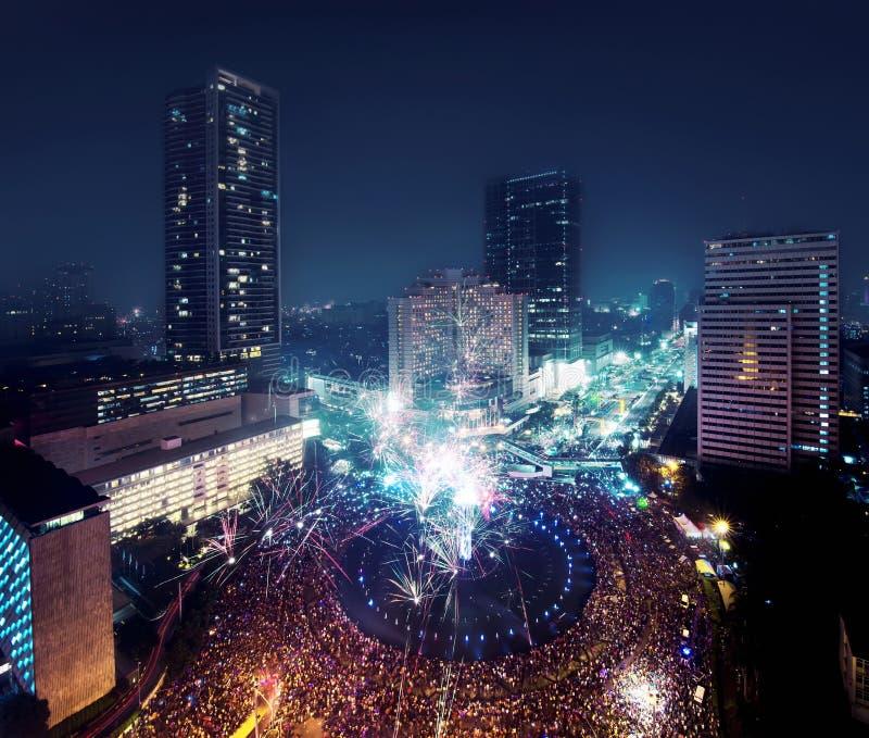 Jakarta New Year Eve Stock Photo. Image Of Landmarks