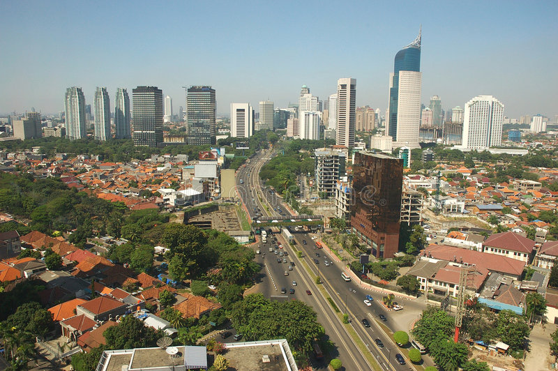 The Jakarta Skyline Stock Photo