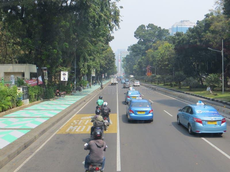 Jakarta stadsgata arkivbild