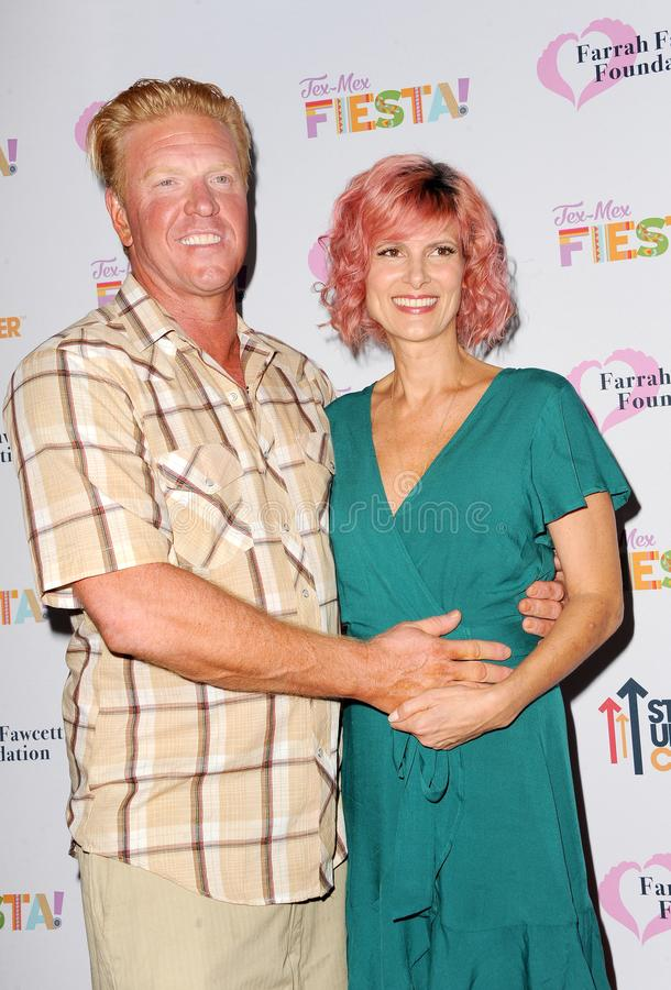 Jake Busey and April Hutchonson royalty free stock photo