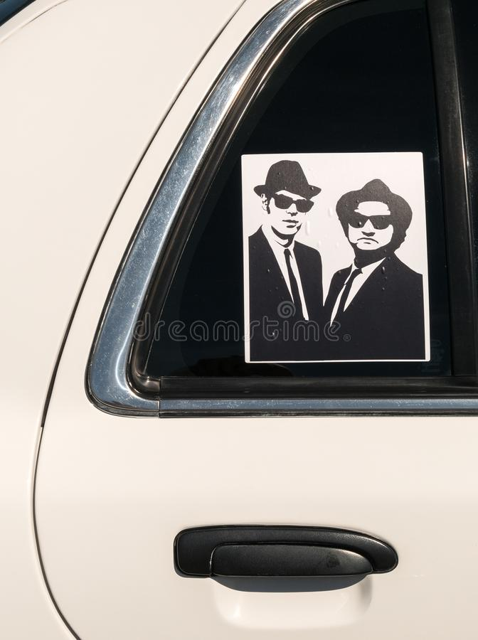 The Blues Brothers royalty free stock photo