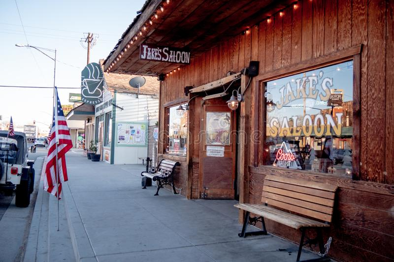 Jakes Wild West Saloon in the historic village of Lone Pine - LONE PINE CA, USA - MARCH 29, 2019. Jakes Wild West Saloon in the historic village of Lone Pine royalty free stock photography