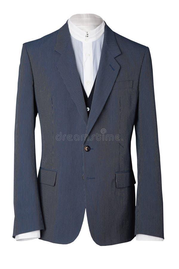Jaket nero con la camicia bianca immagini stock libere da diritti