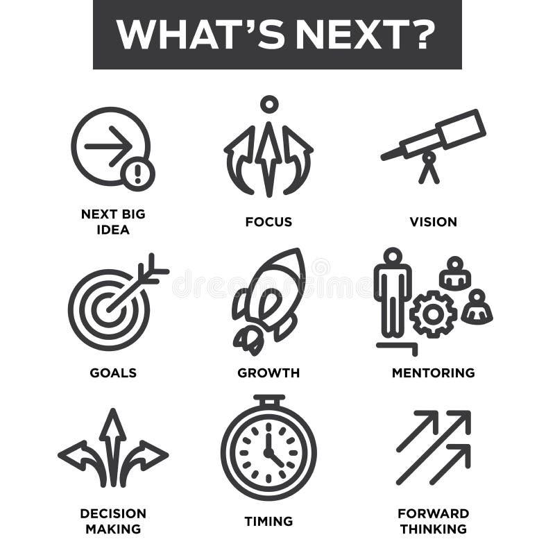 Jaki ` s ikony Następny set royalty ilustracja