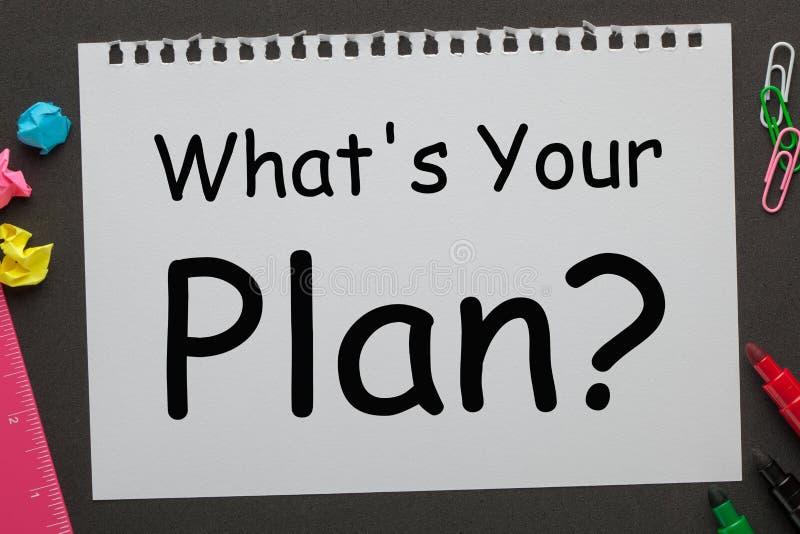 Jaki ` s twój plan obraz royalty free