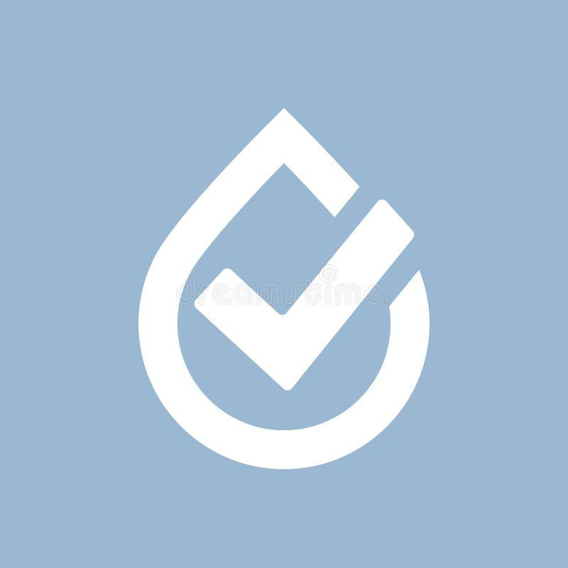 Jakość wody wektoru symbol ilustracji