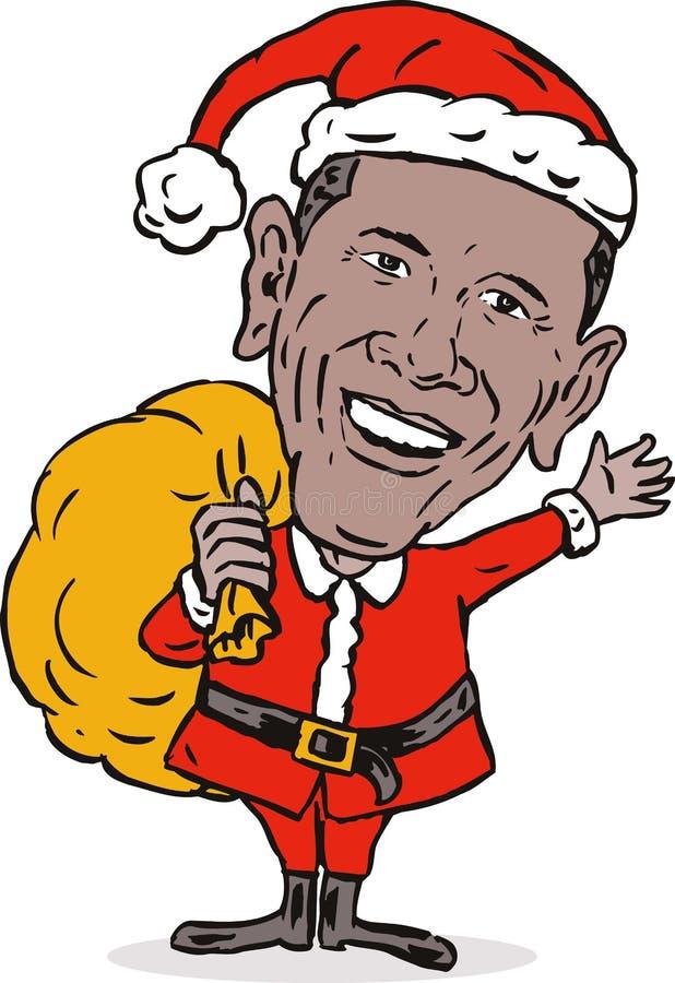jako barack Claus obama Santa ilustracji