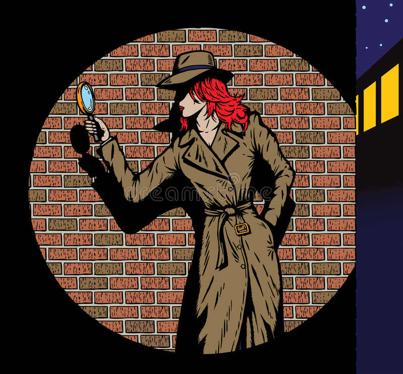 jako detektywistycznej lata pięćdziesiąte dziewczyny stary styl taki ilustracji