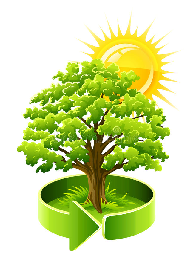 jako ekologii zieleni dębowy symbolu drzewo royalty ilustracja
