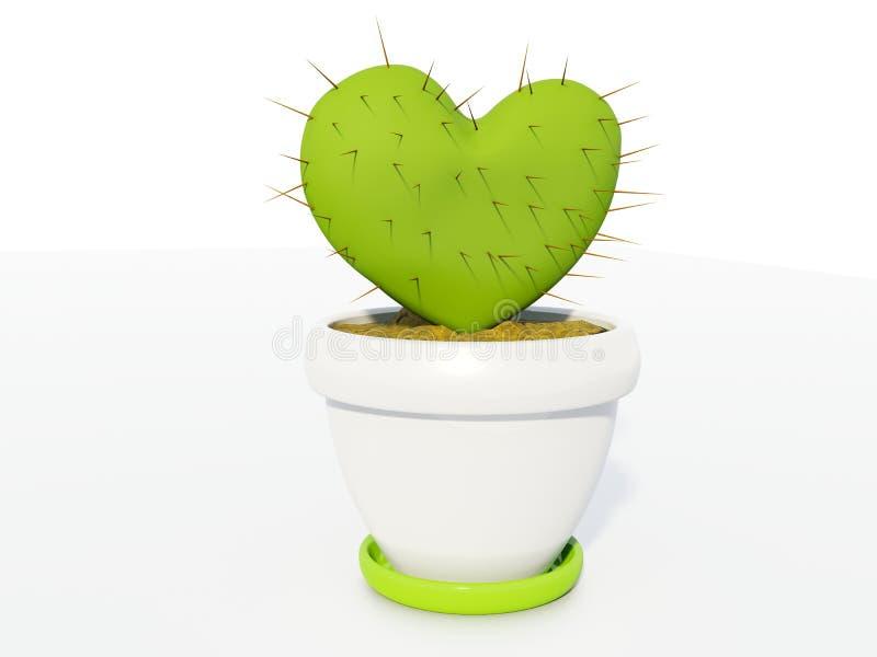 jako kaktusowy serce obrazy stock