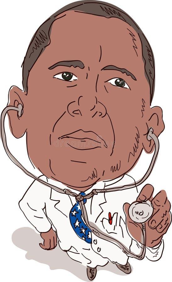 jako obama doktorski prezydent royalty ilustracja