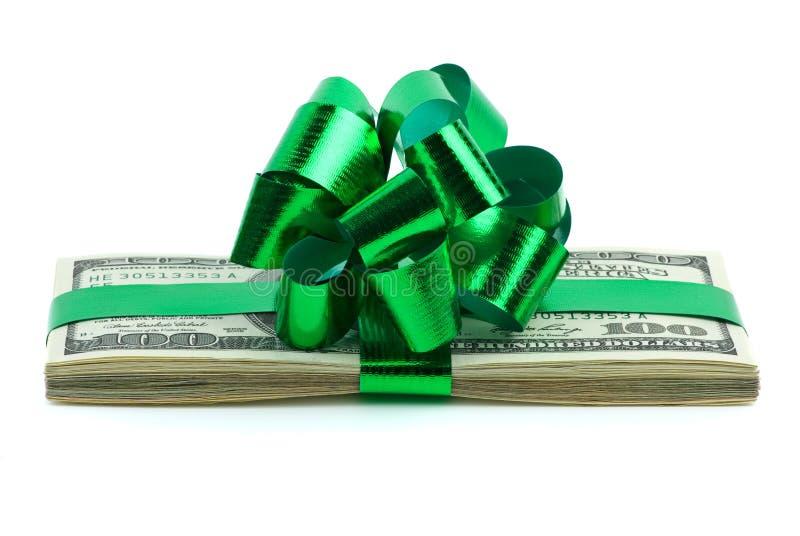 jako prezenta pieniądze fotografia stock