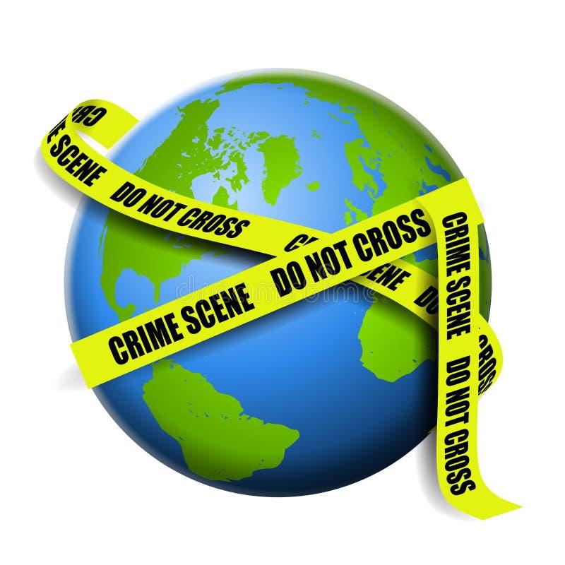 jako przestępstwo ziemi etap globalnej royalty ilustracja