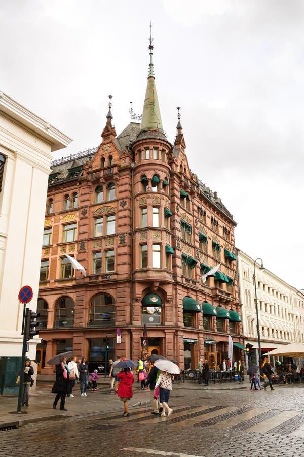 jako stolica najwięcej magistrackiego Norway Oslo ludnego widok well zdjęcia royalty free