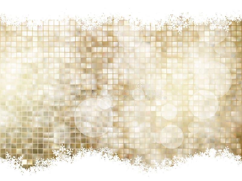 jako tła bożych narodzeń złota ilustracja 10 eps ilustracji