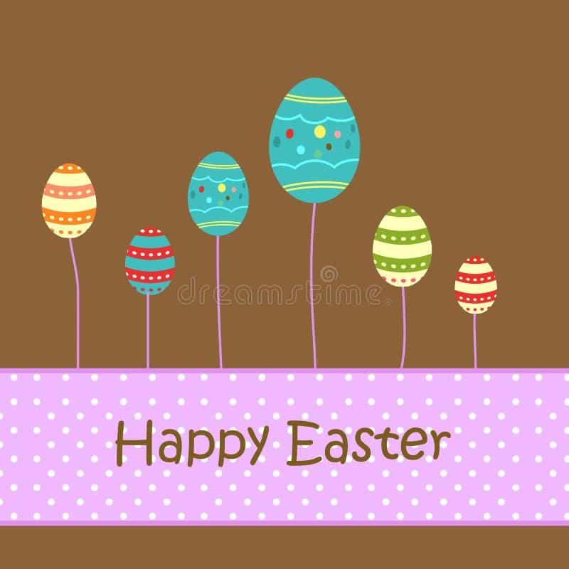 jako target1743_0_ drzewa Easter dekoracyjni jajka royalty ilustracja