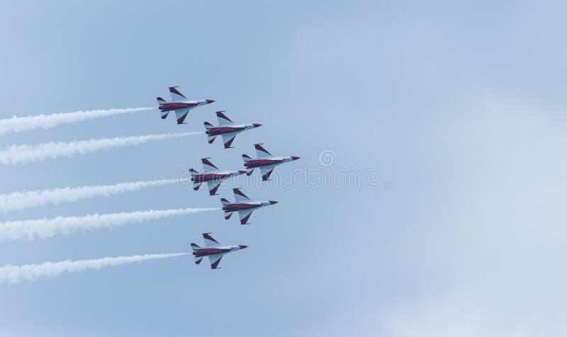 Jaktflygplan royaltyfria foton