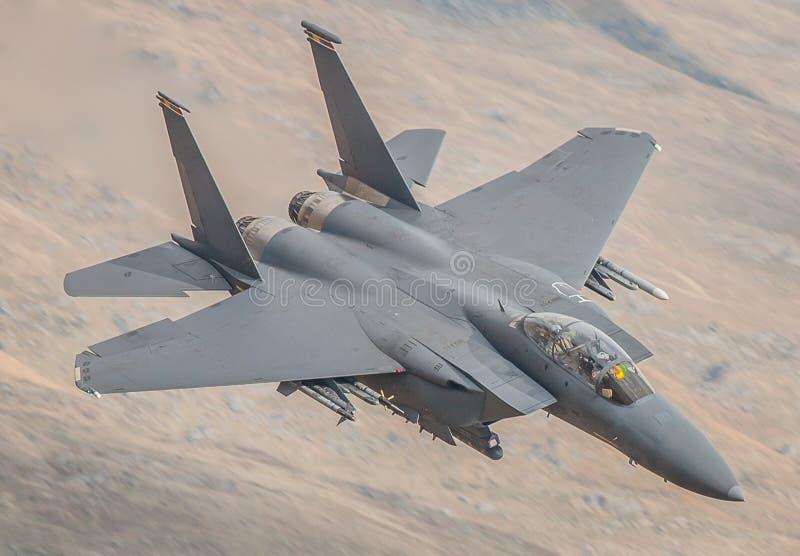 Jaktflygplan för U.S.A.F. F15 arkivbild