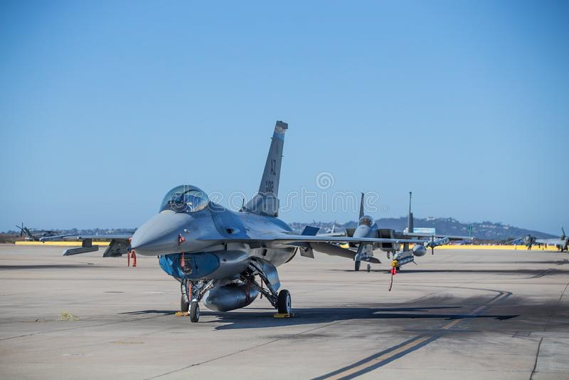 Jaktflygplan för USA Marine Corps arkivbild