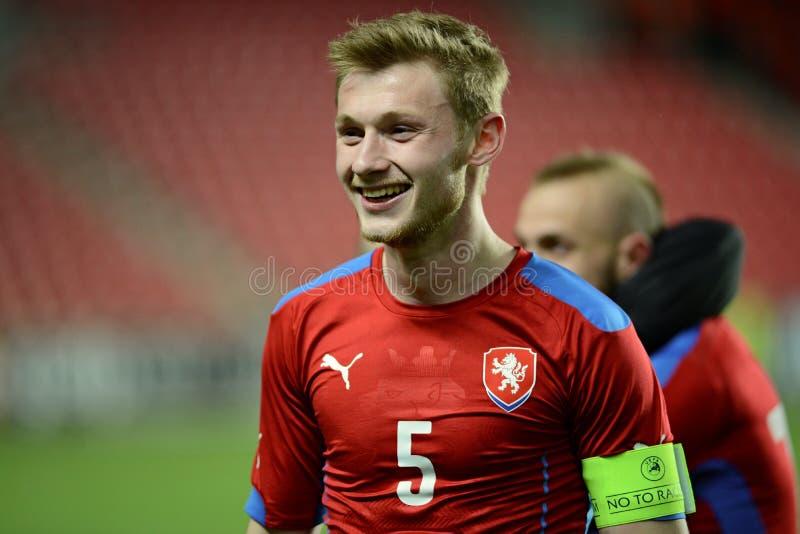 Jakub Brabec, capitain van het team van de Tsjechische Republiek U21 stock fotografie