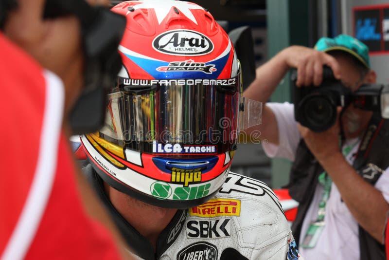 Jakub Smrz - Ducati 1098R - de Vrijheid van Effenbert van het Team stock afbeelding