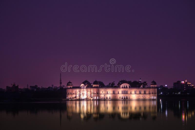 Jal Mahal bij Nacht royalty-vrije stock foto's