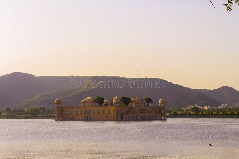 Jal mahal jaipur sunset royalty free stock photos