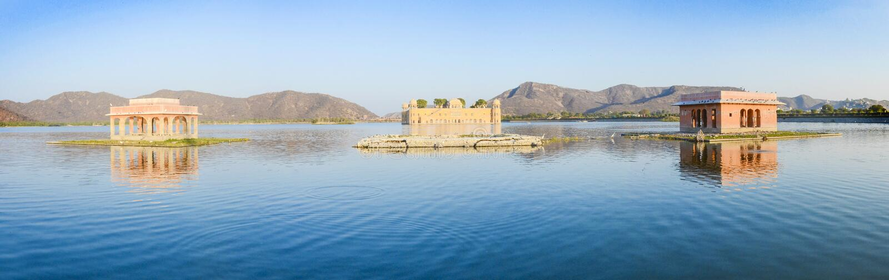 Jal Mahal - o palácio da água, Jaipur, Índia foto de stock royalty free