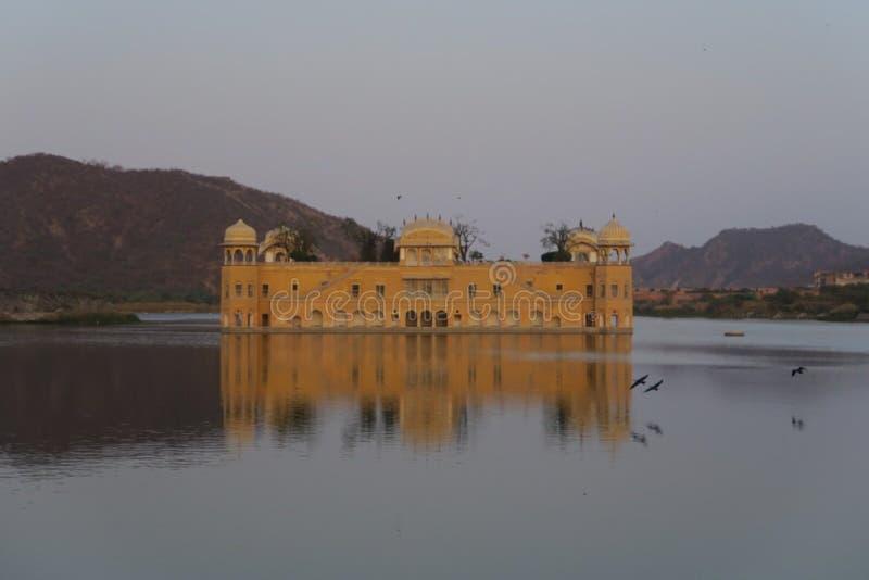 jal mahal pałac woda zdjęcie stock