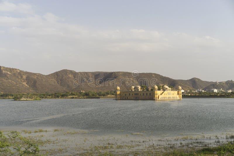 Jal Mahal Palace in Jaipur India bij mooie zonsondergang royalty-vrije stock foto's