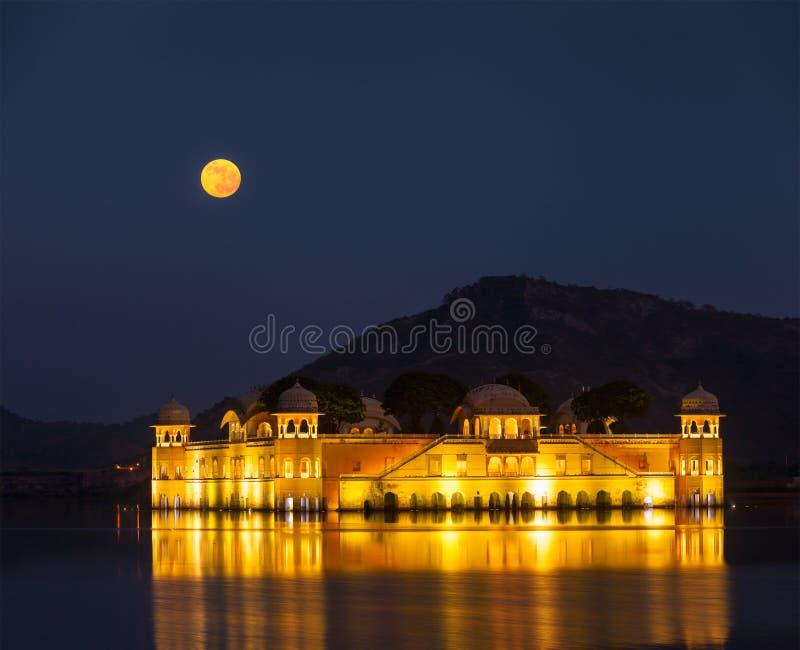 Jal Mahal (palais de l'eau).  Jaipur, Ràjasthàn, Inde photographie stock libre de droits