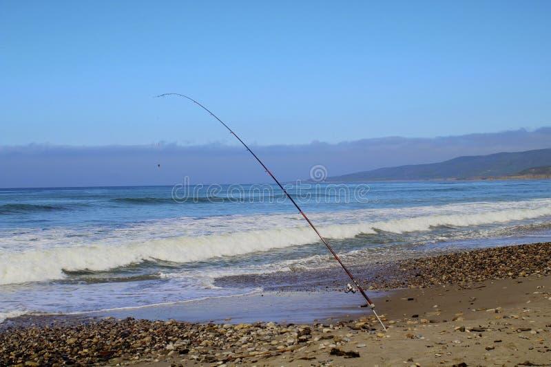 Jalama för hav för fiskepol strand arkivbilder