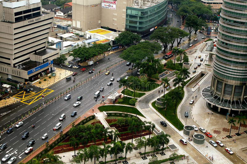 Jalan Ampang, Kuala Lumpur, Maleisië. royalty-vrije stock afbeelding