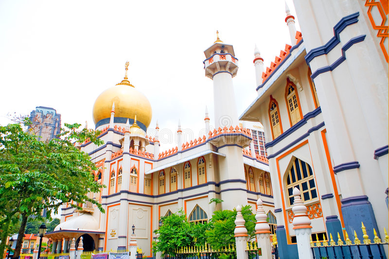 Jalan Sultan mosque, Singapore. Jalan Sultan mosque. A national heritage for the Malay and Arab Muslim community of Singapore royalty free stock image