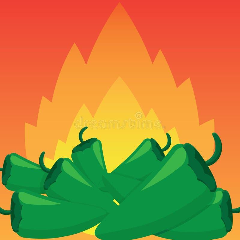 Jalapeño ogień ilustracja wektor