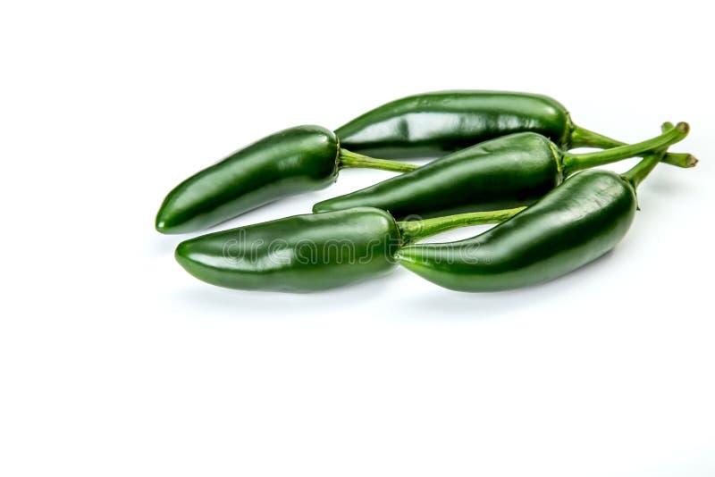 Jalapeno pepper on white background stock images