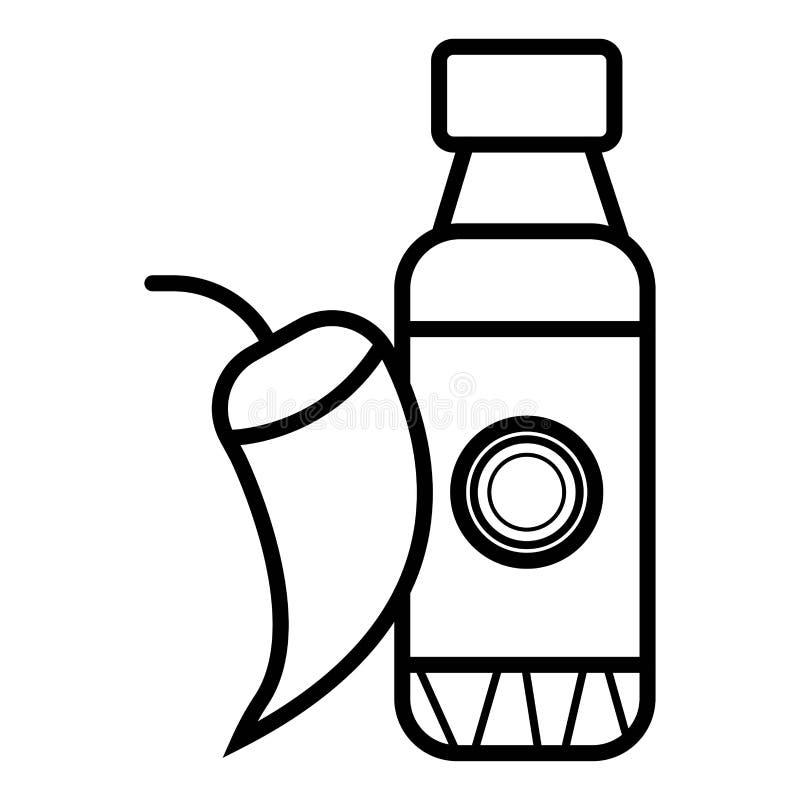 Jalapenosåssymbol royaltyfri illustrationer