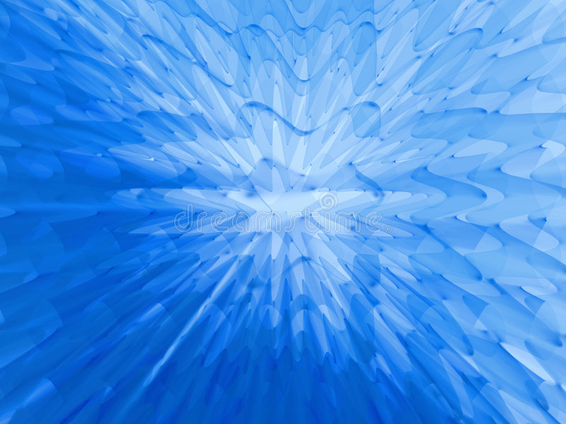 Jalea azul profunda ilustración del vector