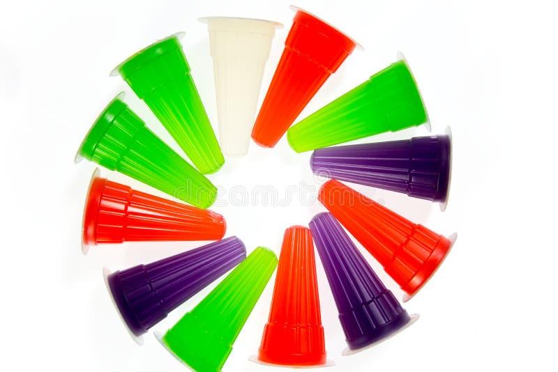 Jalea colorida imagenes de archivo