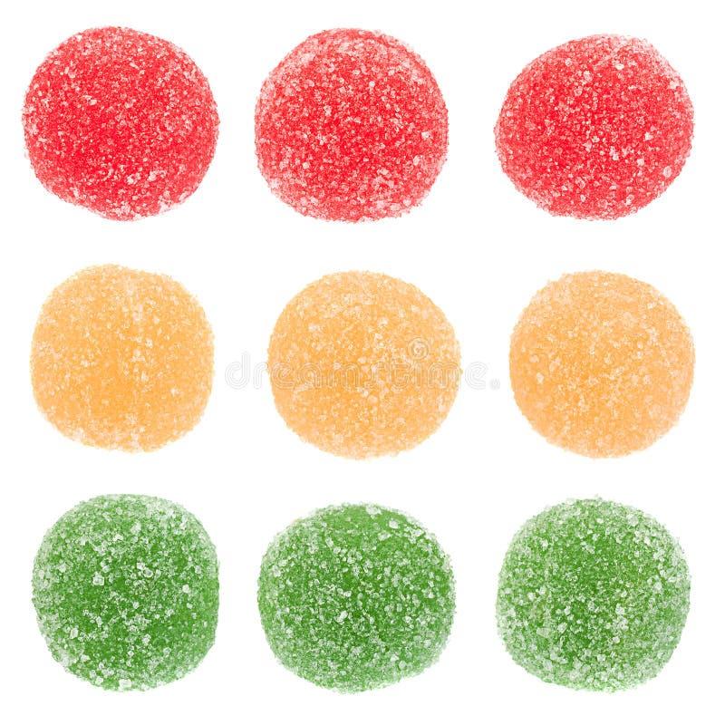 Jalea de fruta redonda escarchada en blanco fotos de archivo
