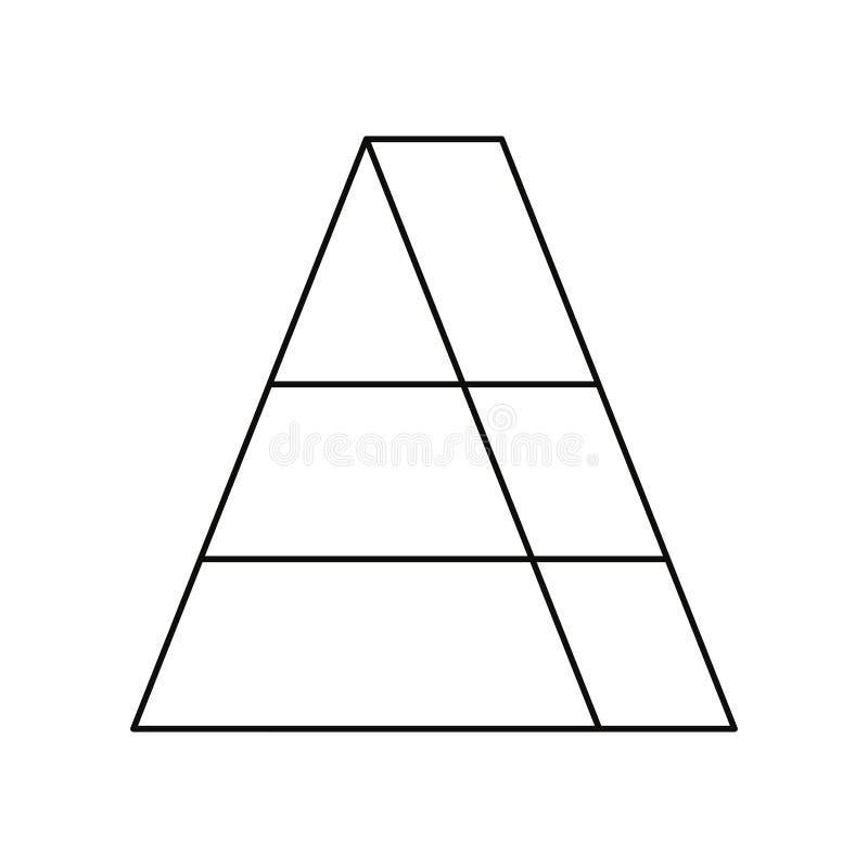 Jalea en bocado dulce de la forma del triángulo ilustración del vector