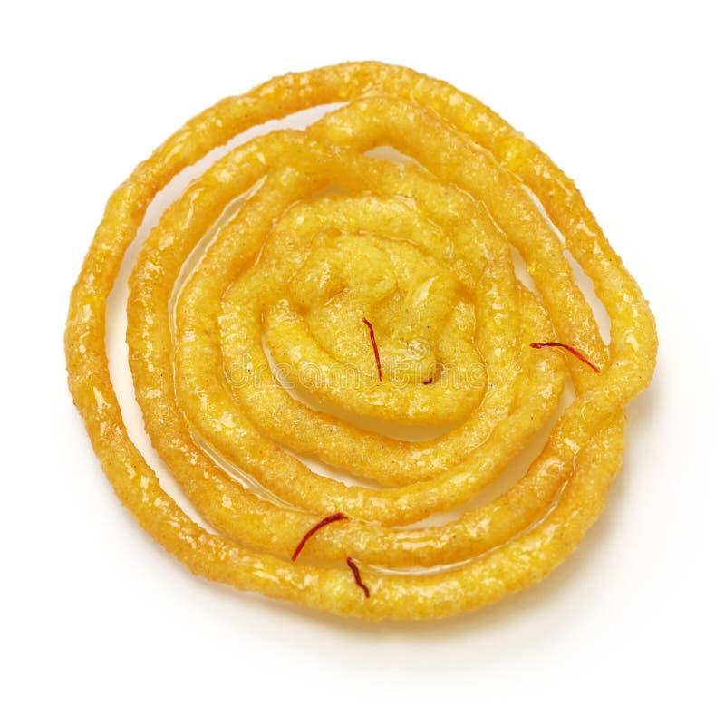 Jalebi印地安甜点 免版税库存图片