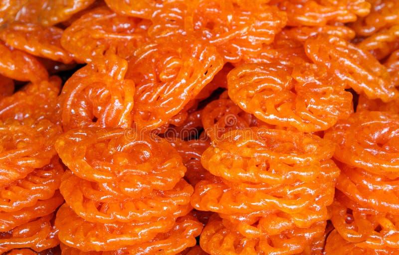 Jalebi doux indien délicieux photographie stock libre de droits