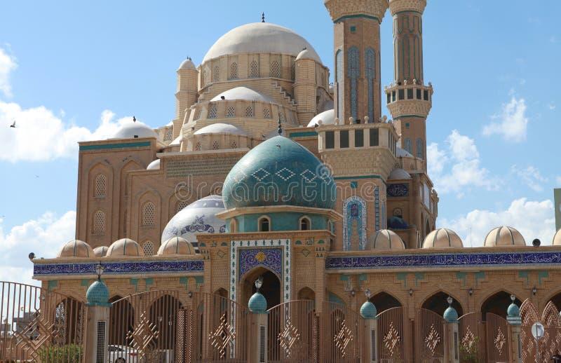 Jalil Khayat清真寺Erbil,伊拉克。 库存照片