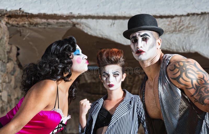 Jaloerse Cirque-Clown royalty-vrije stock afbeeldingen