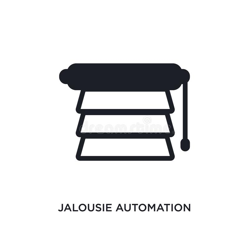 jalousie automation isolated icon. simple element illustration from smart home concept icons. jalousie automation editable logo vector illustration